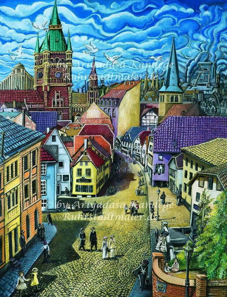 Essen, Steeler Tor um 1900